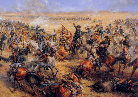 Charge at Mine Creek-Artist Andy Thomas