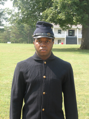 African American Soldier-reenactor at Fort Scott