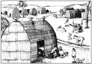 A hut in an Osage Village, courtesy of Missouri Department of Natural Resources.