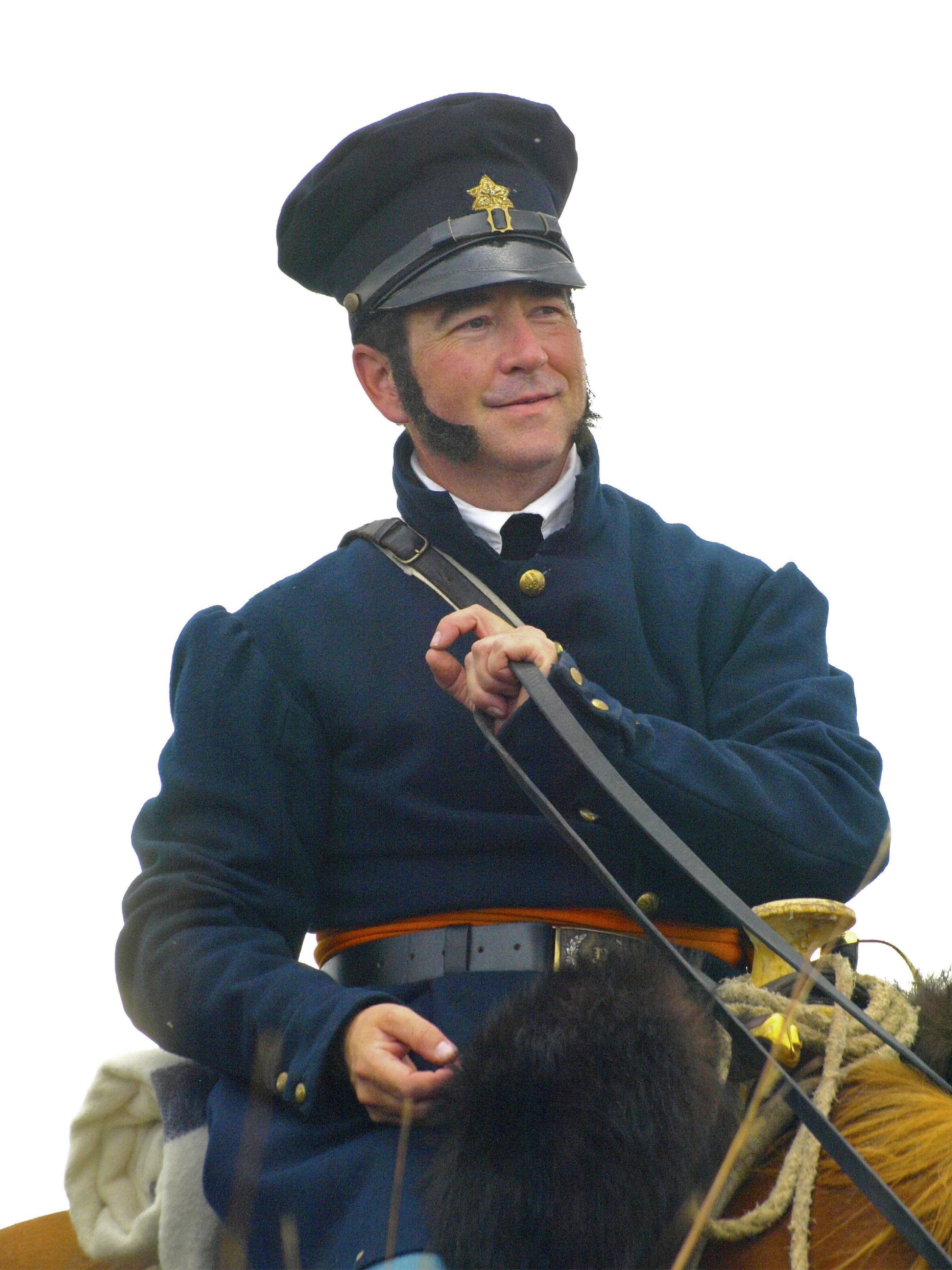 Reenactor Bill Jordan portraying Captain Benjamin Moore