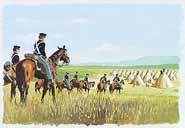 Dragoons on patrol to Pawnee villages in 1844. Image by Hugh Brown