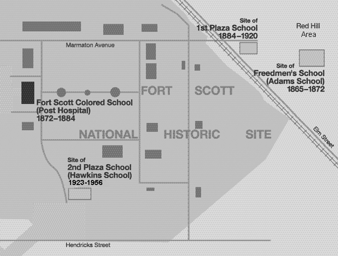 Map of African American Schools