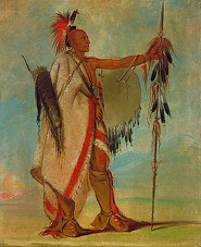 Tallee, an Osage Warrior, painted by George Catlin, courtesy Smithsonian American Art Museum.