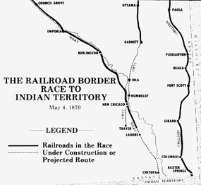 Map of Race to Indian Territory