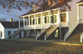 Officers Quarters at Fort Scott NHS. Picture taken at sunset.