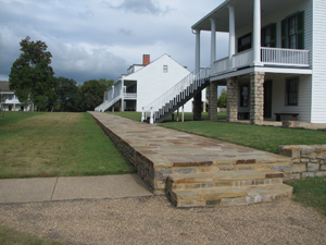 Officers' row walkway at Fort Scott
