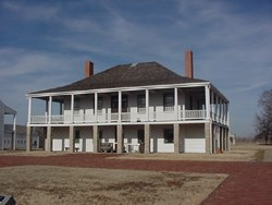 Visitor Center in historic post hospital at Fort Scott