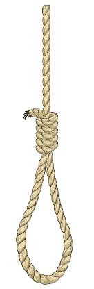 drawing of rope tied as noose