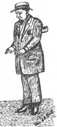 Judge Parker as he appeared in political cartoon in Fort Smith newspaper in May 1884