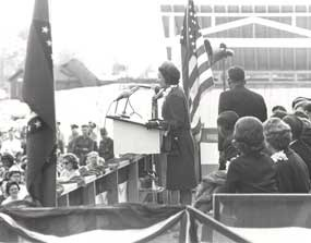 Lady Bird Johnson at Fort Smith National Historic Site dedication
