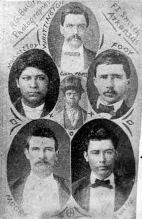 collage of photos of first six men executed under Judge Parker
