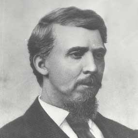 Judge Parker at about the time he arrived in Fort Smith