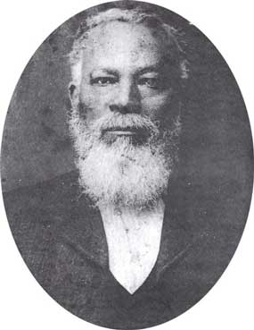 photograph of George Winston as older man.  He served the court as baliff for many years.