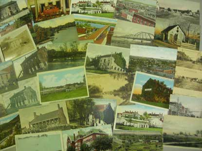 over 30 vintage postcards of Fort Smith arranged as montage