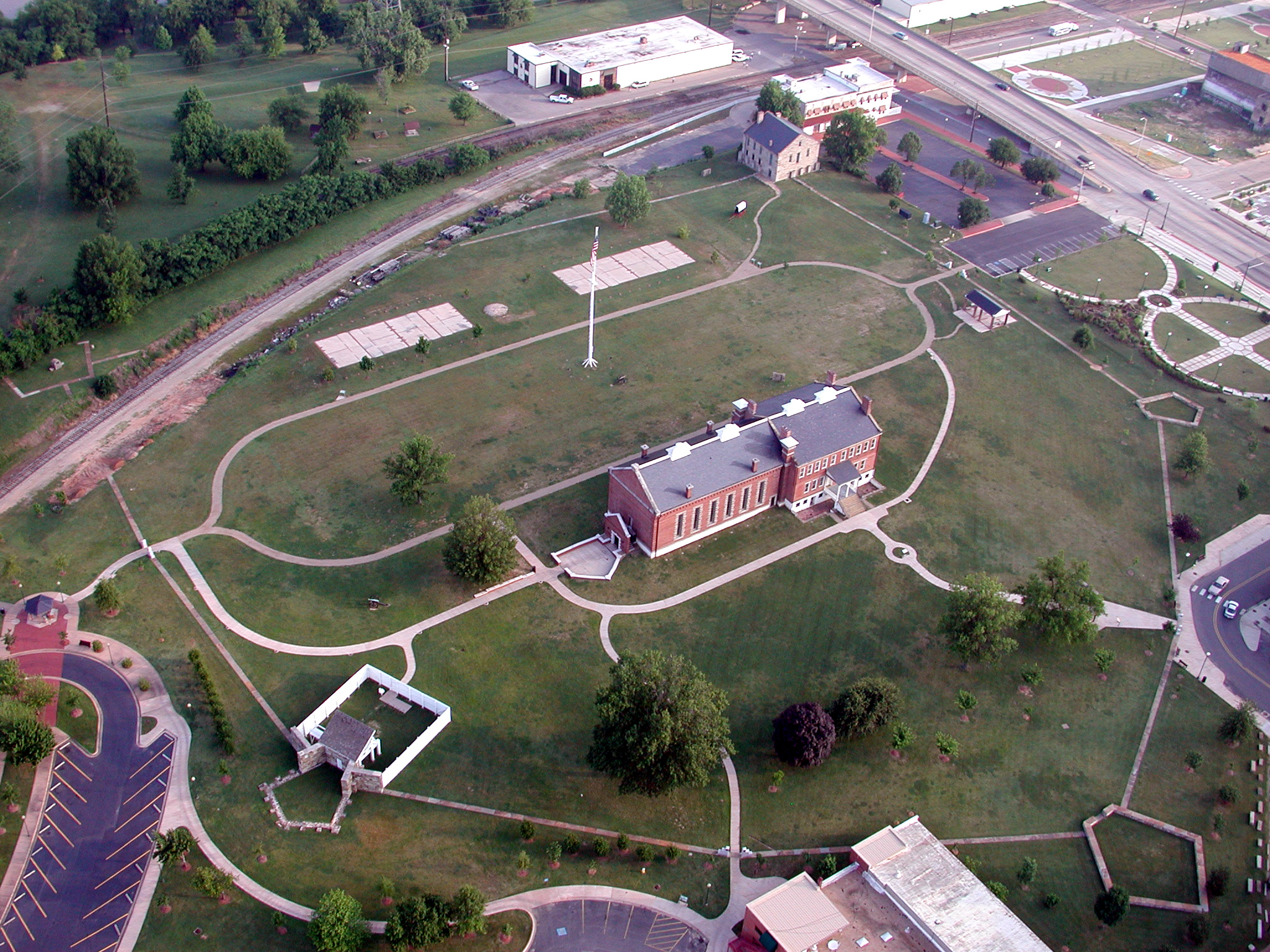 Aerial View of Fort Smith National Historic Site.