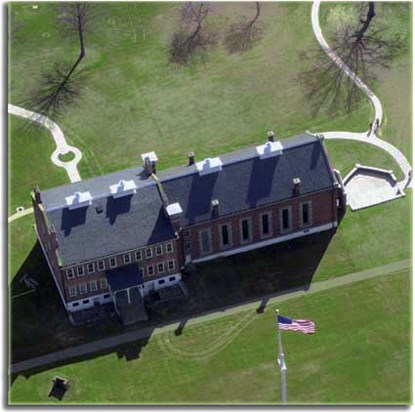 Arial view of the Visitor Center