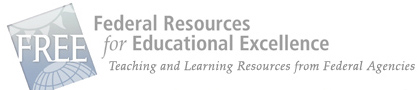 grey and blue faded text sign: Federal Resources for Educational Excellence