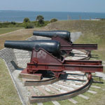 Two cannons at Fort Moultrie