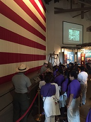 Students watch Rangers talk about U.S. Flag