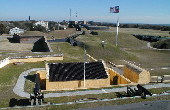 Fort Moultrie National Historical Site on Sullivan's Island in SC