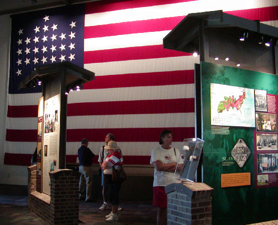 Museum exhibits at the Fort Sumter Visitor Education Center