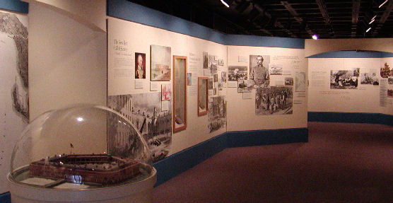 Museum exhibits at Fort Sumter
