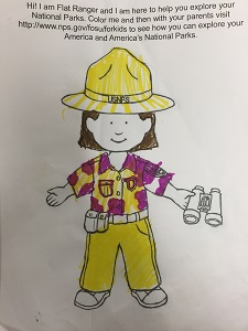 flat ranger girl colored yellow and pink