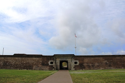 entrance to historic Fort Moultrie
