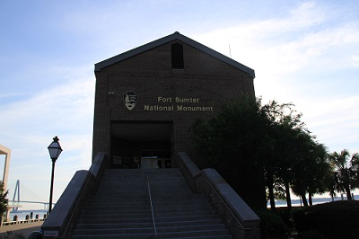 entrance to Fort Sumter Visitor Center
