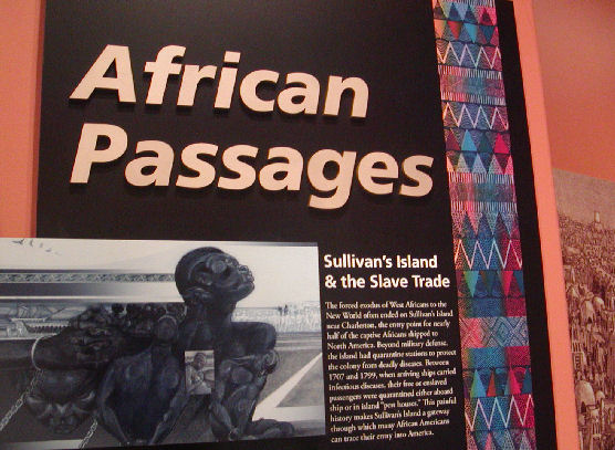 African Passages museum exhibit introduction panel.