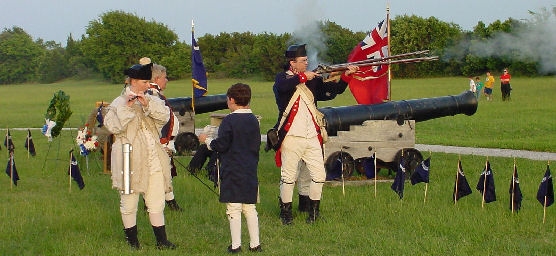 Re-enactors at Fort Moultrie on Carolina Day.