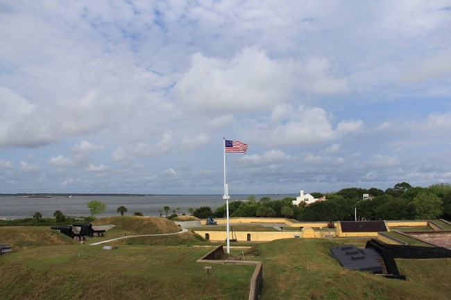 interior of historic fort moultrie