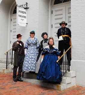 Park Rangers and Volunteers in historical dress.