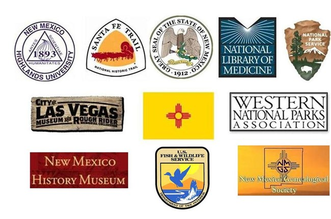 Logos of partnering agencies/groups of Fort Union National Monument