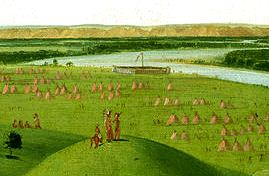 George Catlin - Fort Union, Mouth of the Yellowstone River, 2000 Miles above St. Louis.