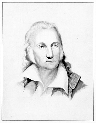 John James Audubon as sketched in 1842 by Isaac Sprague.
