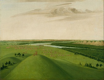 George Catlin's famous painting of Fort Union.