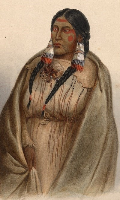 Karl Bodmer's Portrait of Francois Deschamps' Cree Wife.