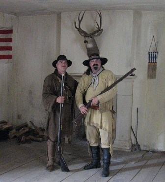 Fort Union hunters with their guns.