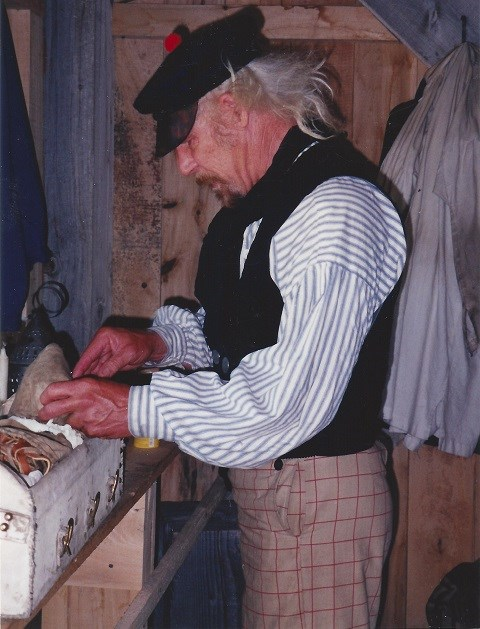 David Finders portrays a Trader during Fort Union's Civil War Weekend, 1999.