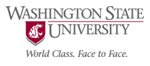 Official Washington State university logo. Text reads: World Class. Face to Face.