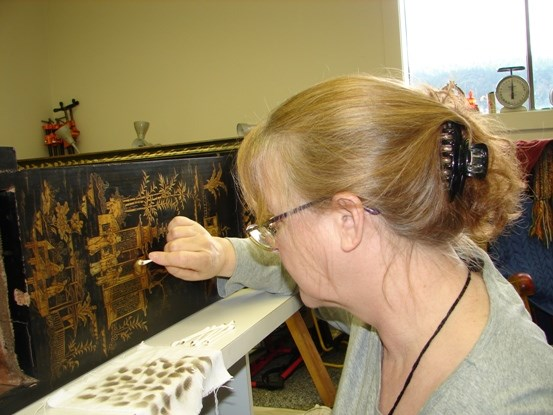 MPF Conservation conservator at work