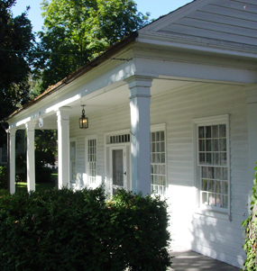 Image of the front porch of the Barclay House