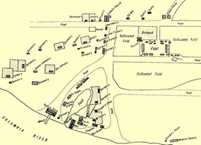 Map of the fort's village area