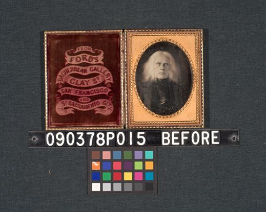 McLoughlin daguerreotype before conservation