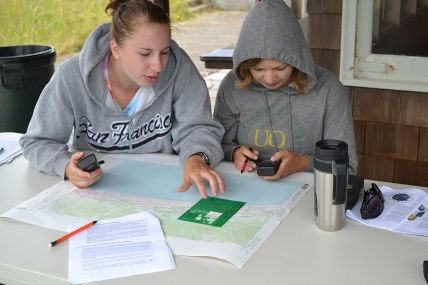 2011 Field School students survey at Lewis and Clark National Historical Park