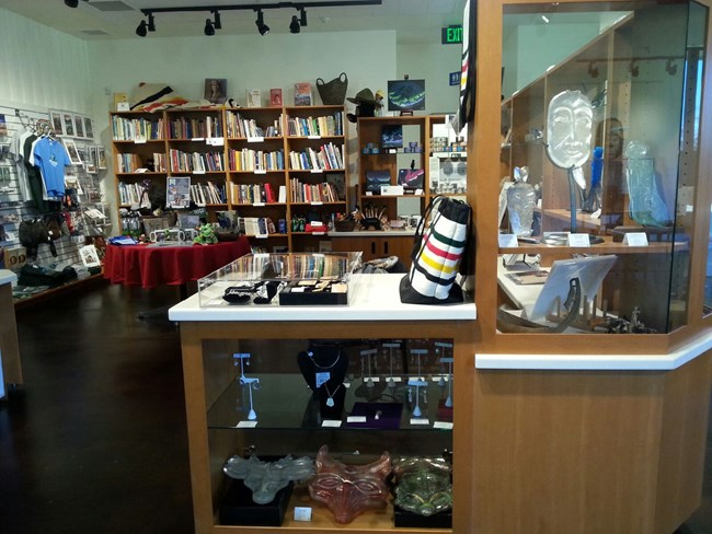 The Friends of Fort Vancouver Bookstore in the Visitors Center