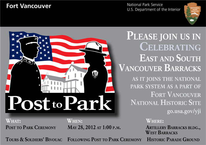 Image of the postcard announcing the Post to Park special event.