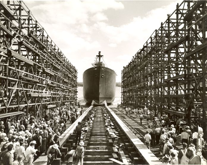 Kaiser Shipyards, Launching Ship