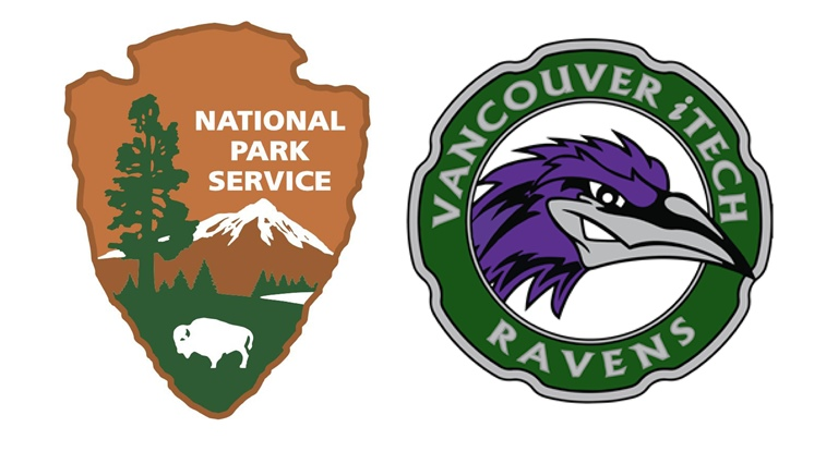 National Park Service arrowhead logo and logo for iTech Preparatory